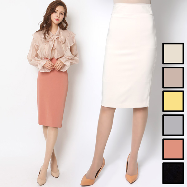 【一部予約】ウエストマーク シンプルタイトスカート