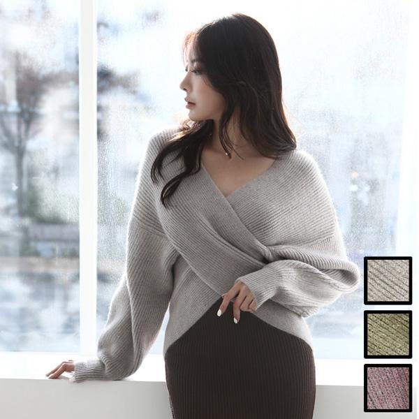【一部予約】<新色入荷>マシュマロニット レイヤード リブ セーター